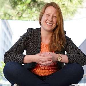 Marine science student Charlotte Robinson
