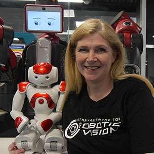 Sue Keay Pepper robotics