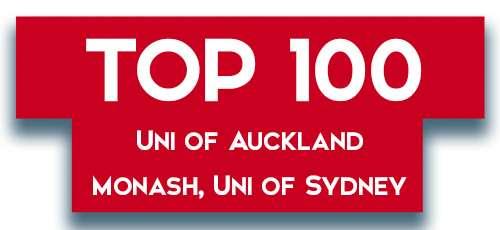 Top 100 UAuckland Monash USyd