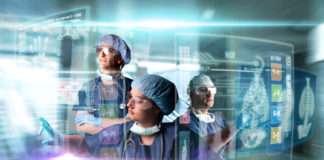Health scientist tech futuristic