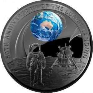 50th anniversary moon landing coin Australia
