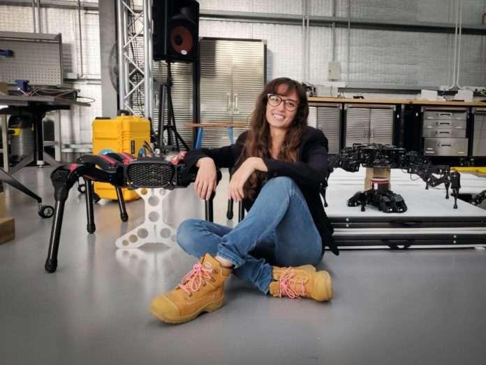Katrina Lo Surdo with robots