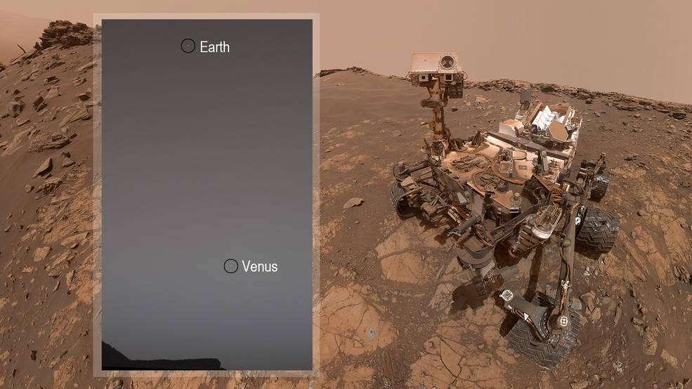 Curiosity rover spots Earth and Venus