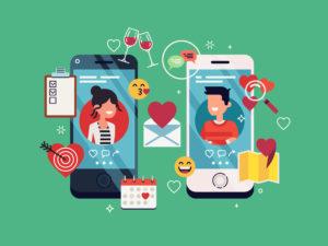 Dating apps vector illustration